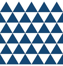 Indigo blue white triangle background vector