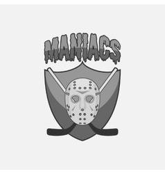 Monochrome Hockey Team Label vector image