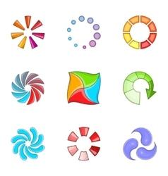 Preloader icons set cartoon style vector image