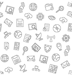 Web communication pattern black icons vector image vector image
