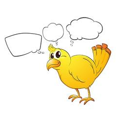 A young bird vector image