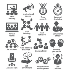 Business management icons pack 21 vector