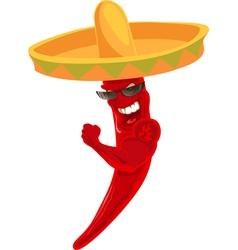 chili sombrero vector image