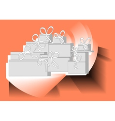 christmas present pile vector image vector image