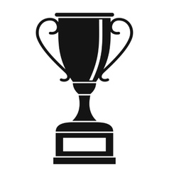 Winning gold cup icon simple style vector image