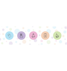 5 jingle icons vector