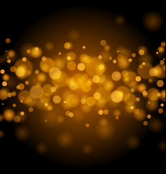 abstract golden light bokeh background vector image