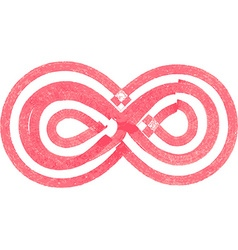Abstract infinity Symbol made with red marker vector