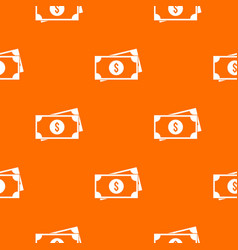 American dollars pattern seamless vector