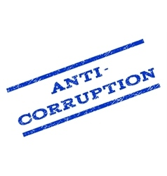Anti-corruption watermark stamp vector