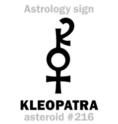 astrology asteroid kleopatra cleopatra vector image