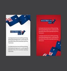 Australia day template design vector