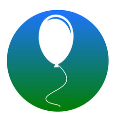 balloon sign white icon in vector image