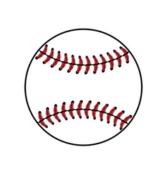 Baseball ball sign isolated vector
