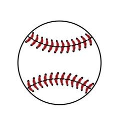 Baseball ball sign isolated vector