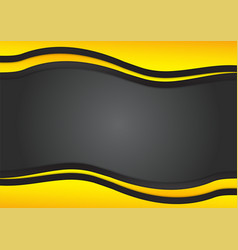 Black and yellow triangle is overlap modern vector