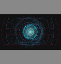 blue radar screen hud hi-tech futuristic vector image