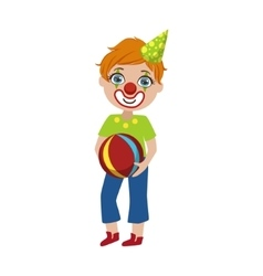 Boy In Clown Make Up vector