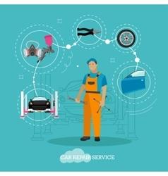 Car repair shop concept in vector