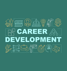 Career development word concepts banner vector