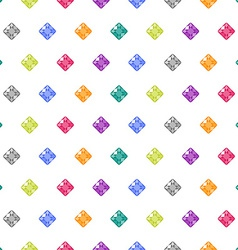 Cartoon gems white seamless pattern vector image