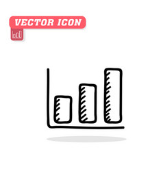 chart icon white background image vector image