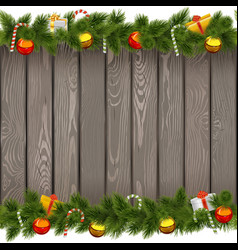 Christmas Border with Lollipop on Old Board vector