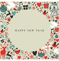 Christmas icons 2013 happy new year vector image