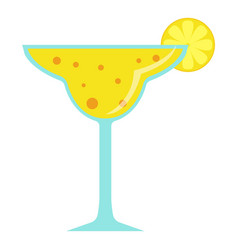 cocktail icon flat style vector image