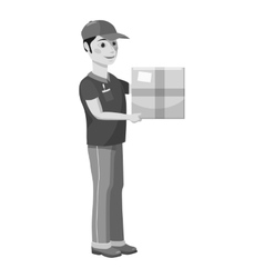 Courier icon gray monochrome style vector