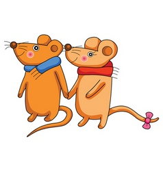 cute rat vector image