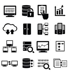 Data and information technology icons vector