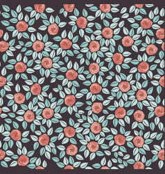 elegant seamless pattern with decorative roses vector image