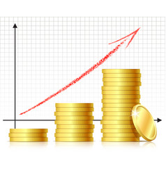 financial success concept vector image