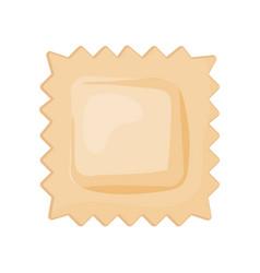 Flat icon uncooked ravioli traditional vector