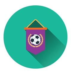 Football pennant icon vector image
