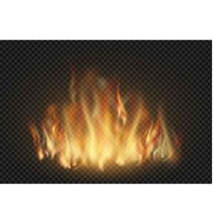 forks flame realistic set vector image