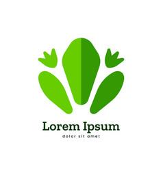 frog logo icon symbol vector image