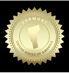Gold star label Vermont vector image vector image