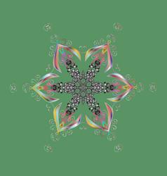 graphic element decoration flat design snowflake vector image