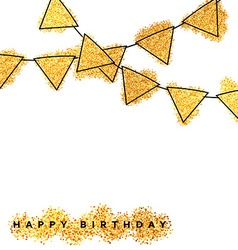 Happy Birthday card template design Greeting Cards vector image