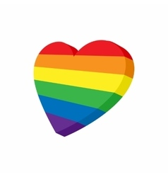 Heart in LGBT color icon cartoon style vector image
