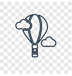 hot air balloon concept linear icon isolated on vector image