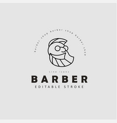 icon and logo for barbershop and beauty vector image
