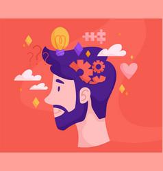 Inner world thinking process vector