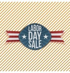 Labor Day Sale realistic festive Emblem vector image