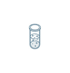 laboratory chemical beaker isometric icon 3d line vector image