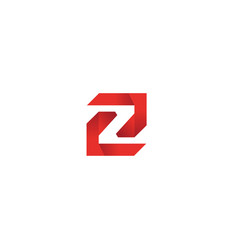 labyrinth technology symbol alphabet z for logo vector image