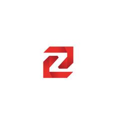 labyrinth technology symbol alphabet z for logo vector image