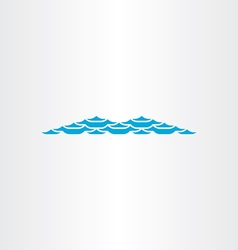 Light blue wave abstract symbol vector